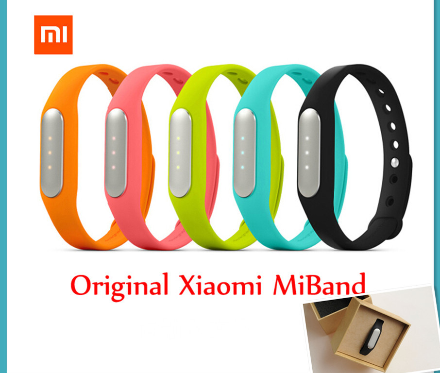100% Original Xiaomi mi band Bracelet MiBand Bluetooth IP67 Waterproof Smart Wristbands for Android 4.4 Phones for iphone IOS7/8(China (Mainland))