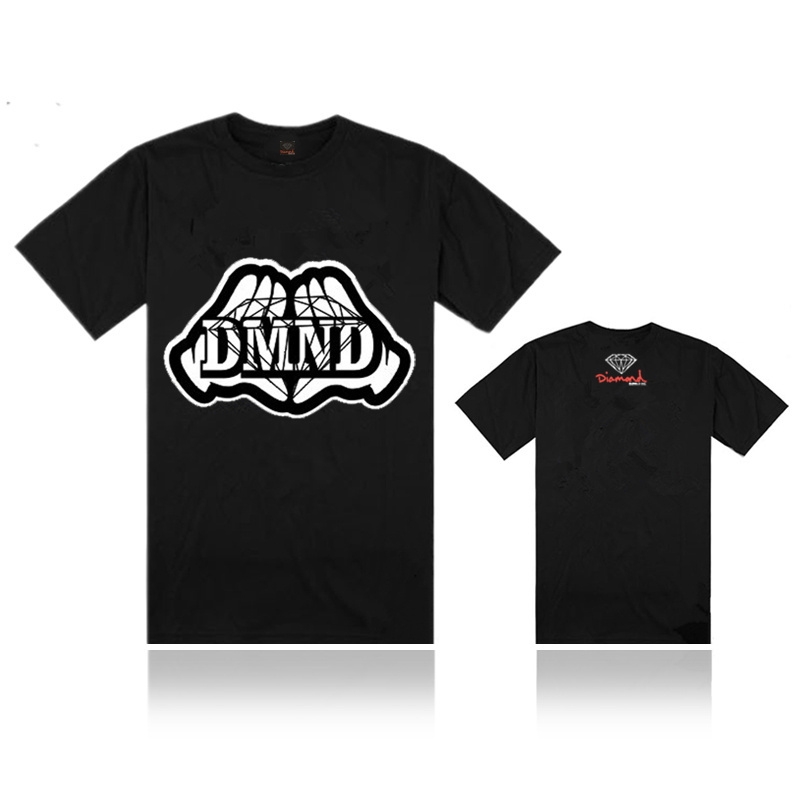 Diamond Supply Co flash big diamond hip hop star T tide male short-sleeved T-shirt(China (Mainland))