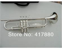 Bach  YTR-1335 Bb Trumpet  S Type Small Brass Instruments Surface Silver Plated Bb Trompeta with Case Gloves Series(China (Mainland))