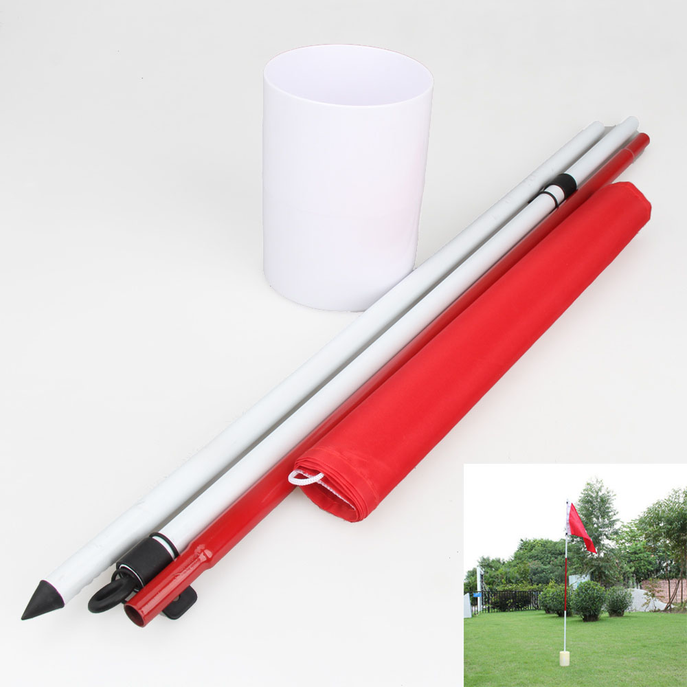 Backyard Practice Golf Hole Pole Cup Flag Stick Putting Green Flagstick<br><br>Aliexpress