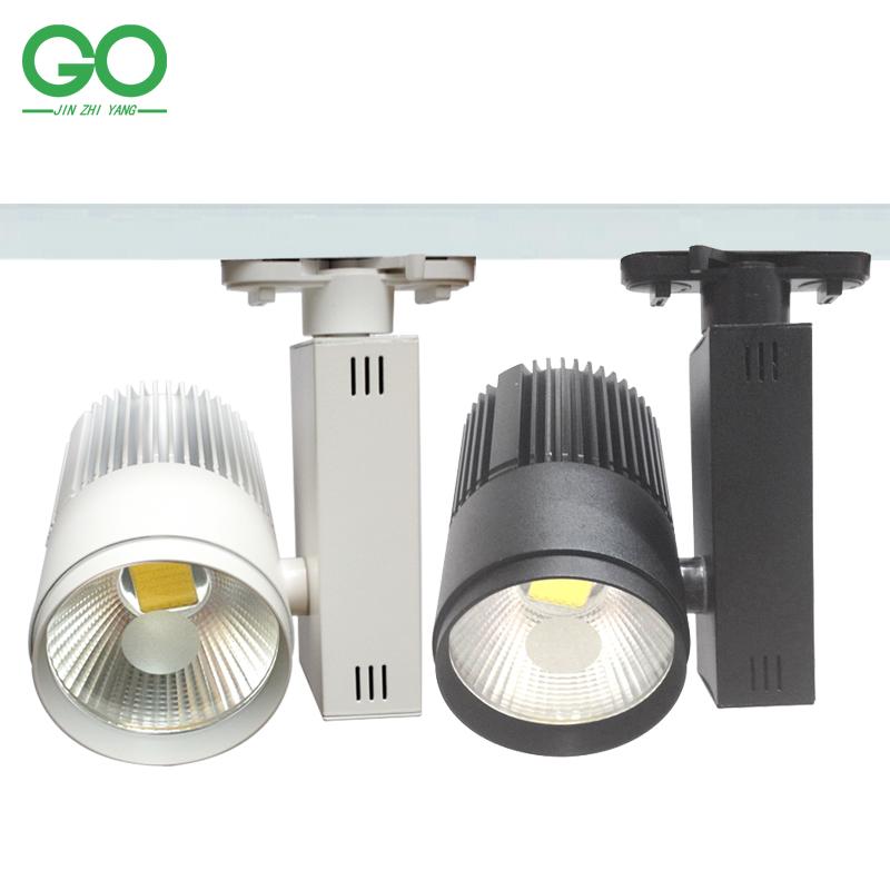 LED Track Light 40W COB Rail Lights Lamps Spotlight Commercial Shop Indoor Lighting 110V 120V 220V 240V Warm natural Cold White(China (Mainland))