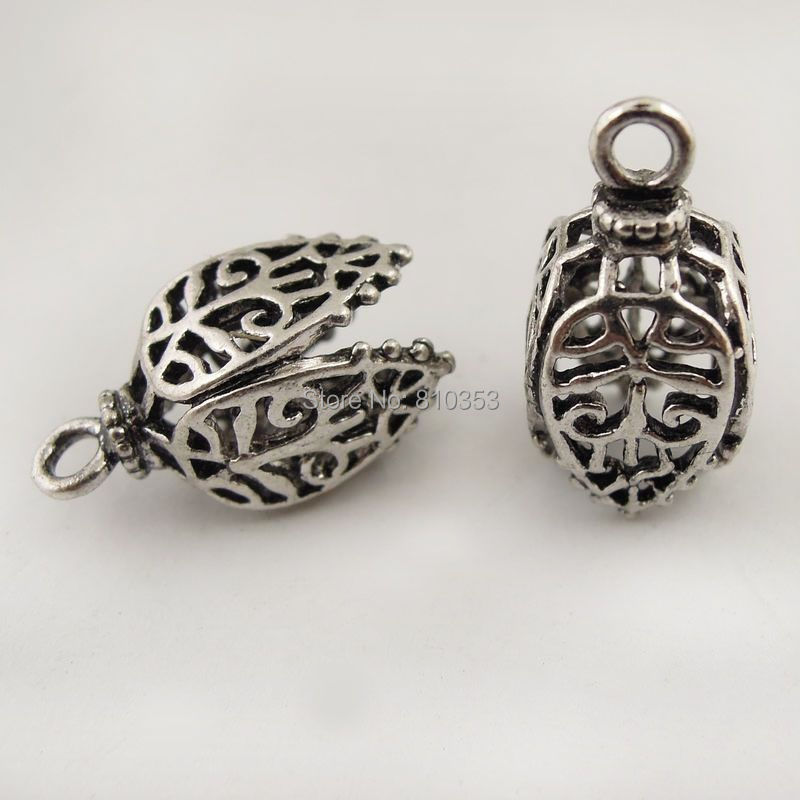 Wholesale Retro Style Antique Silver Tone Copper Oil Lamp Lantern Pendant Charm 10ps 17*11mm 37674(China (Mainland))