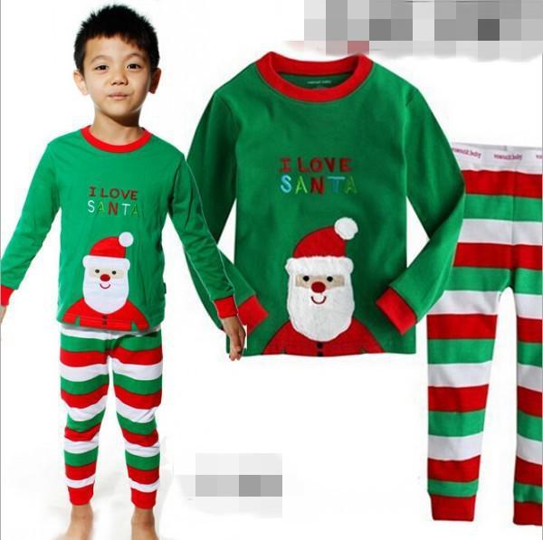Baby christmas pajamas children xmas 2 pieces pajamas set Santa claus printing tops &amp; stripe pants kids clothing sets JL-350<br><br>Aliexpress