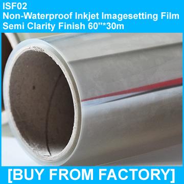 "180g Inkjet Imagesetting Film Semi-clarity 60""*30M"