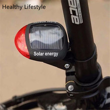 Bike Light Solar Powered LED Rear Flashing Tail Light for Bicycle Cycling Lamp Safety Warning Flashing Light Accessories Jan 18(China (Mainland))