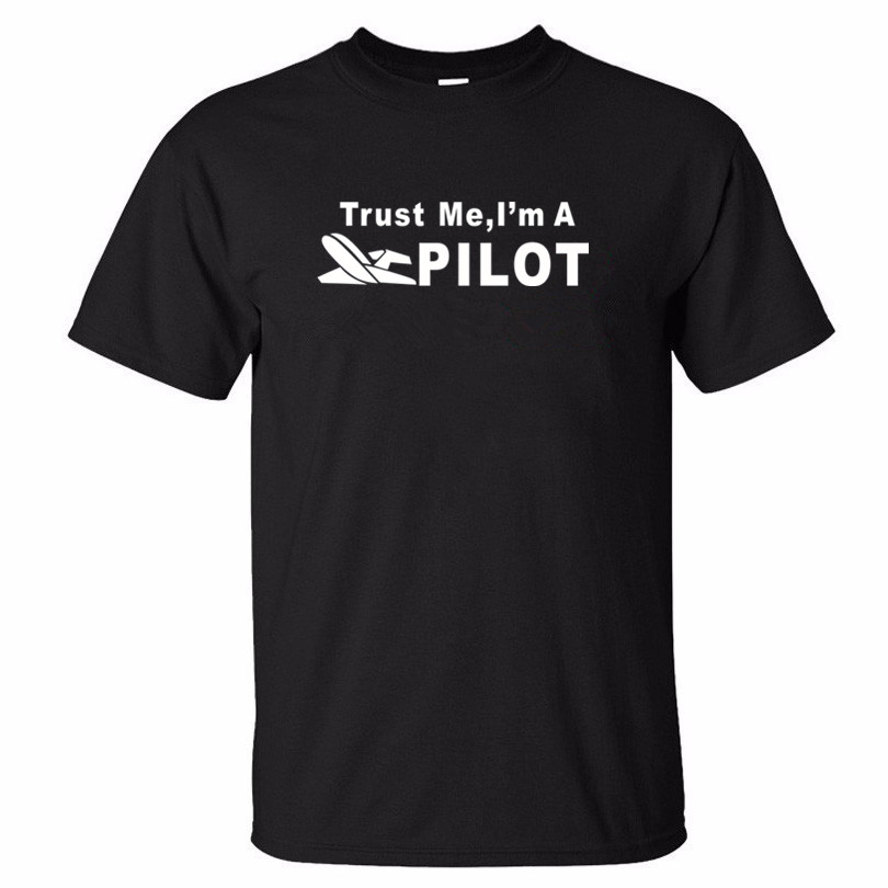XQXON-2017 summer men short sleeve t-shirt Trust Me I'm A PILOT Airlines design man cotton 3d t shirt clothes K217(China (Mainland))