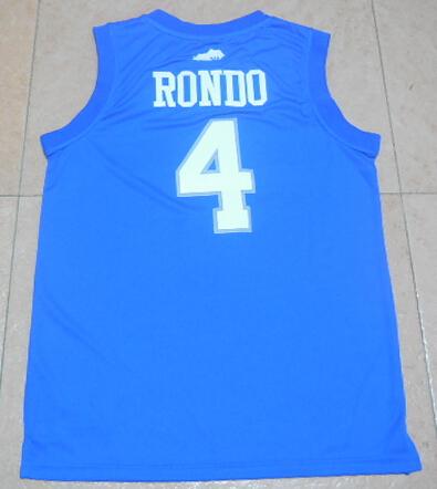Cheap Men's #9 Rajon Rondo Jersey Purple White Black Blue Green Stitched #4 Rajon Rondo Basketball Jerseys Free Fast Shipping(China (Mainland))