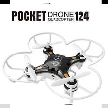 FQ777-124 Mini FQ124 Pocket Drone 4CH 6Axis Gyro Quadcopter With Controller RTF RC Helicopter Plane New(China (Mainland))