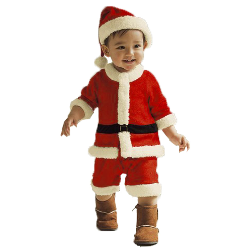 Kids Christmas Clothing Set Santa Claus Costume Xmas Party Clothes romper hat sets Baby Cute wear 66 - Lovely Babies' Store store