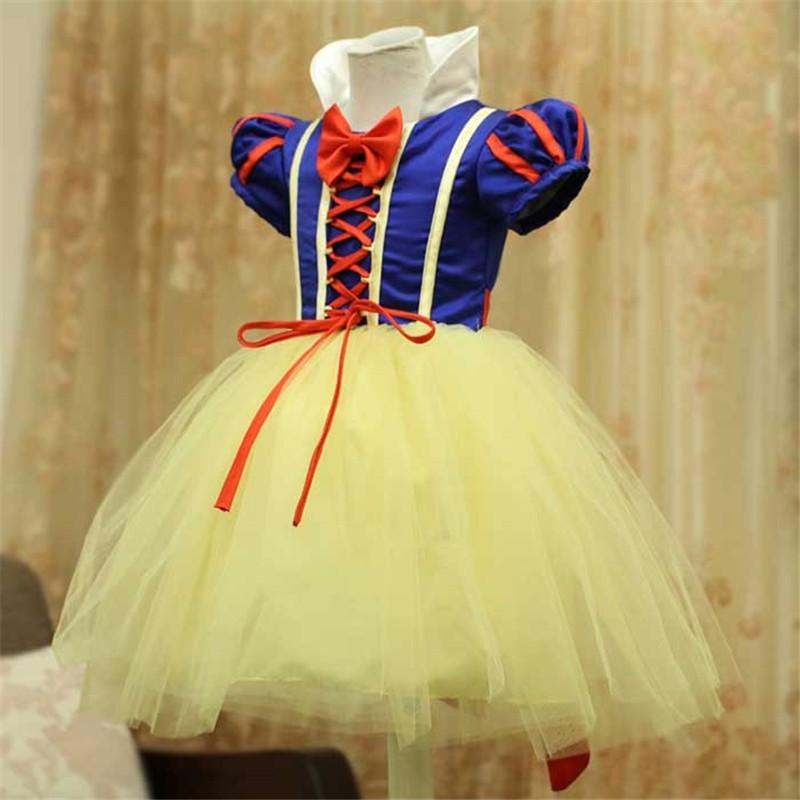2016 Cosplays Children Snow White Costume Fancy Princess