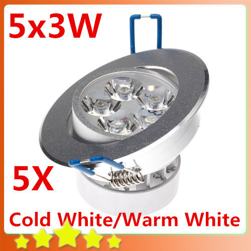 5PCS/Lot 15W Ceiling Downlight Epistar LED Ceiling Lamp 5x3W Recessed Spot Light 100V-245V for Home illumination FREE SHIPPING<br><br>Aliexpress