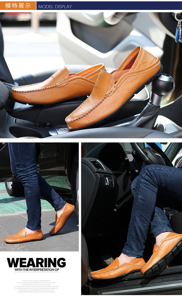 Zuucee 2016 ботинки люксовый бренд мокасины из натуральной кожи роскошных людей мокасины свободного покроя дышащий двойного назначения обуви