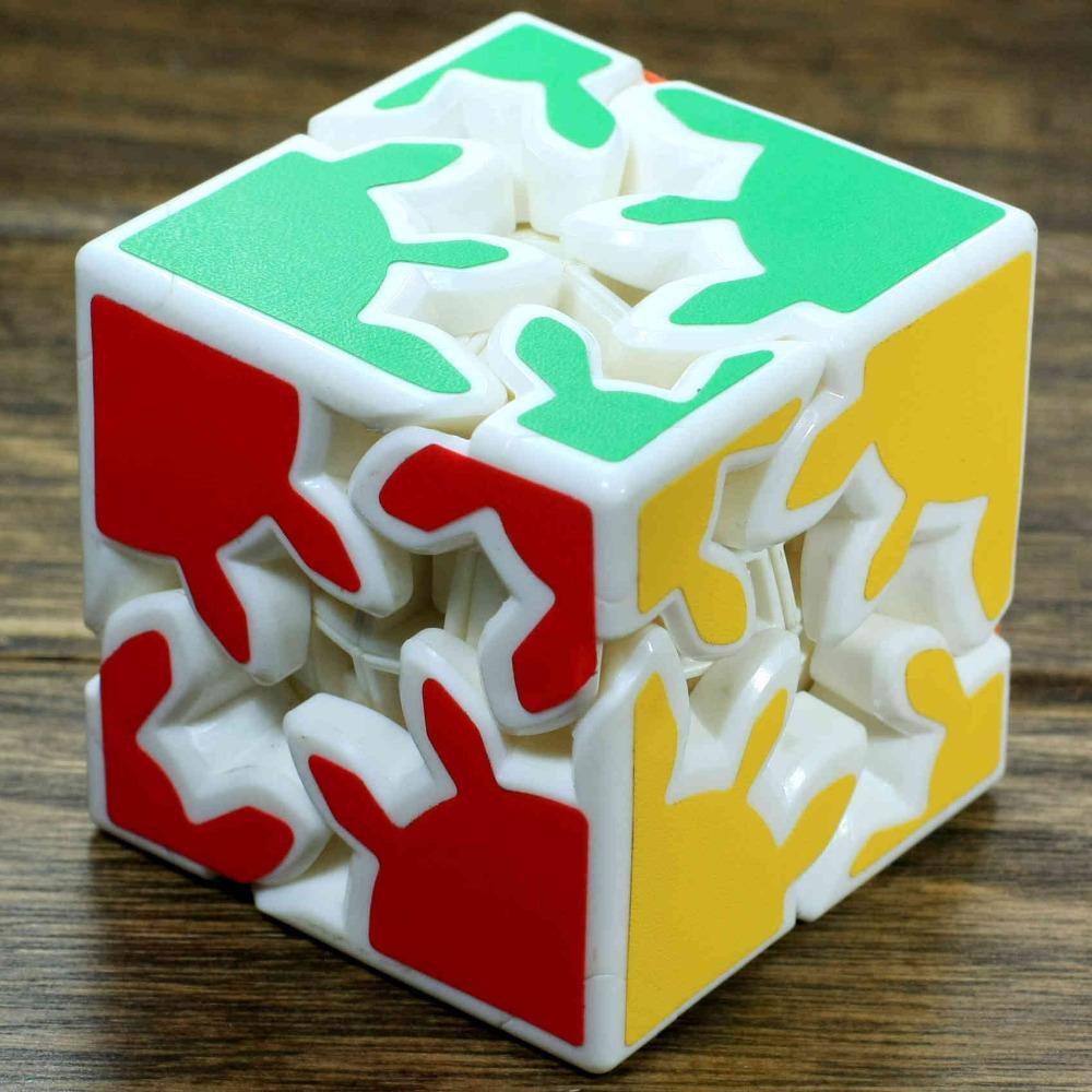 Free Shipping 2014 Brand New Kuaishouzhi 2-layer Gear Cube Cool Toy Speed Puzzles(China (Mainland))