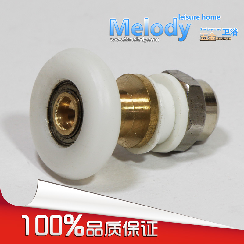 Me-RP018 shower room sliding door roller eccentric wheel hanging copper Brass pulley bathroom fittings(China (Mainland))