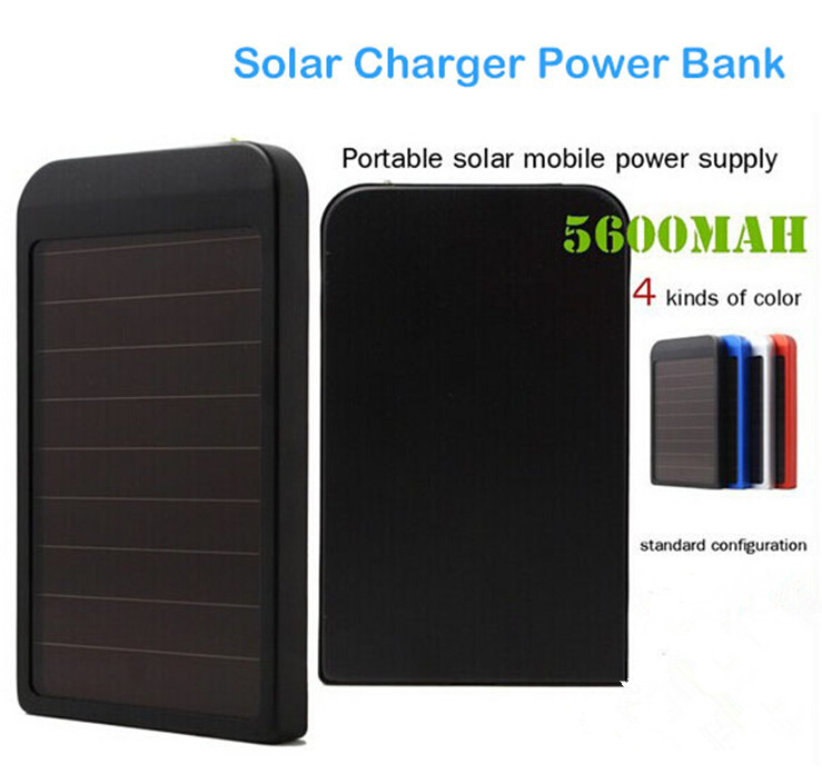 Зарядное устройство 5600mAh Batery Powerbank portatil 5600mAh Solar Charger for iPhone, iPad, iPods; Samsung HTC,Nexus; LG