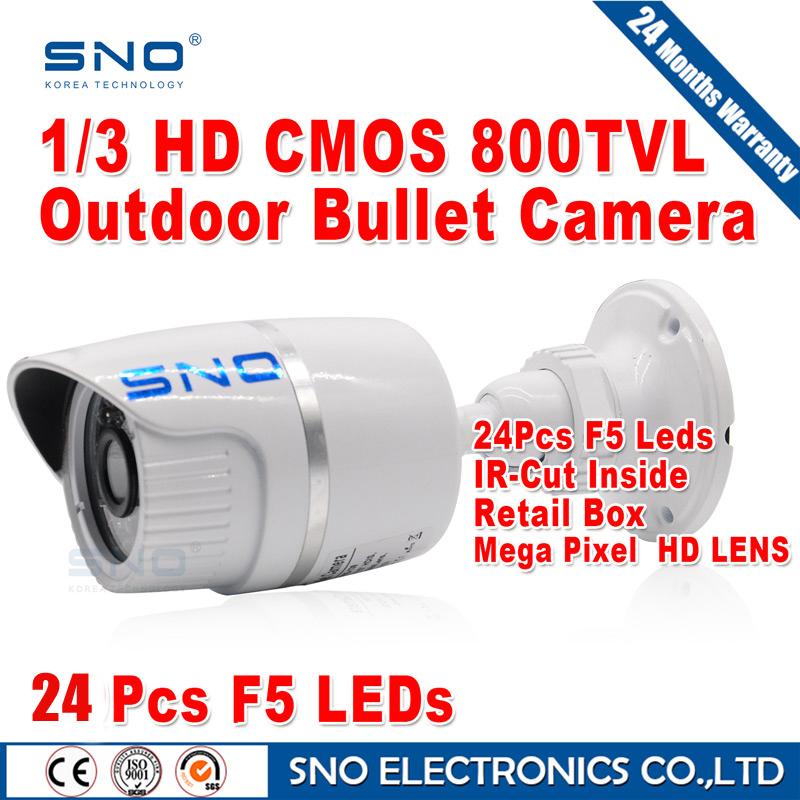 HD High Quality CCTV Camera 800TVL IR Cut Filter 24 Hour Day/Night Vision Video Outdoor Waterproof IR Bullet Surveillance Camera(China (Mainland))
