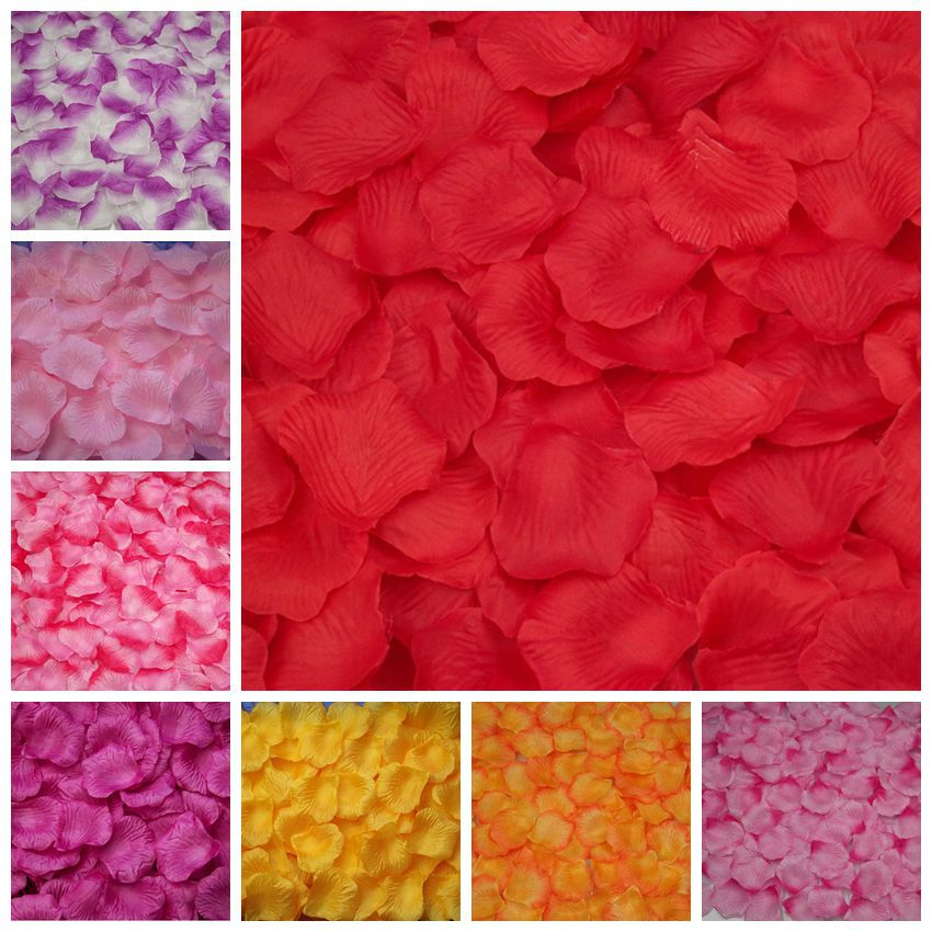 100pcs/lot Artificial Silk Rose Flower Petals Leaves Wedding Table Decoration Event Party Supplies Wreaths wedding accessories(China (Mainland))