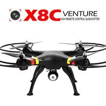 syma x8c 4ch 2.4GHz quadrocopter with 2.0mp HD camera UFO upgrated x8w RTF headless mode radio controlled toys syma x8c venture