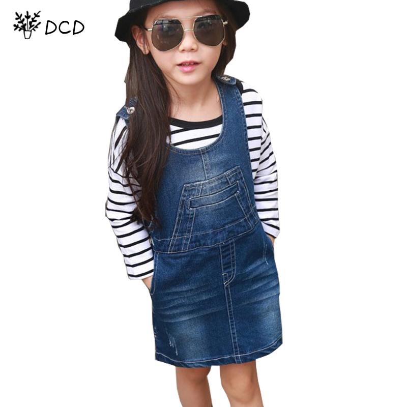 New Fashion Spring Autumn Princess Girls Dress Denim Strap Dress Baby Girl Kids Clothes Children Dress Kid Sleeveless Sundress(China (Mainland))