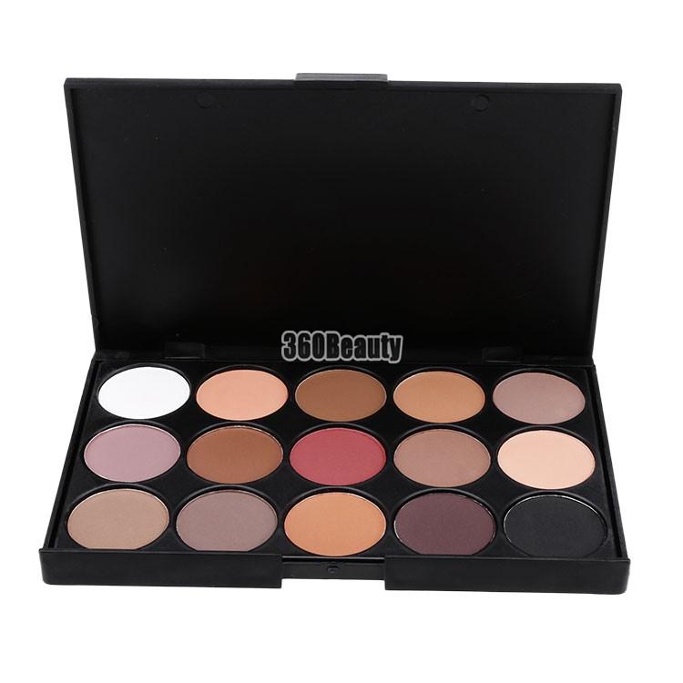 Nanômetro Real Maquiagem De olho Maquiagem sombra 2015 profissional 15 cores quentes Palette nua Maquiagem cosméticos sombra