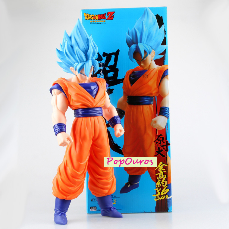 New Japanese Anime Dragon Ball Z Action Figure 14.2 inch PVC Super Saiyan Son Goku Toy<br><br>Aliexpress