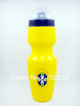 football fans Yellow Brazil  Cycling Water Bottle Jug 23oz 700ml Bike Bicycle Hiking Camping Outdoor Sports