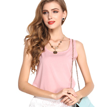 Buy Plus Size New Fashion Sexy Women Candy Color Chiffon Shirts Summer O-neck Sleeveless Shirt Loose Vest Tank Top Blouse S-XXXL for $1.99 in AliExpress store