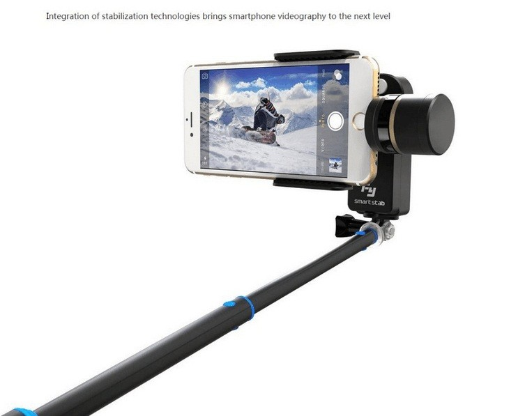 Free Shipping FeiYu FY New Arrivals SmartStab 2 Axis Brushless Handheld Gimbal Stabilizer For Smartphone Iphone 6+ 6s