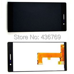 LCD display Touch Screen Digitizer Assembly For huawei ascend p7 P7-L00  P7-L01 P7-L05 P7-L09 P7-L10 glass lens Black
