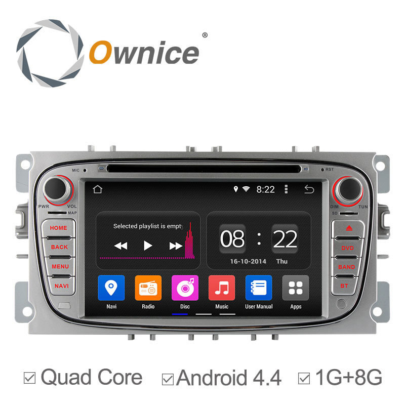 Ownice Android 4.4 4 Core Car DVD Player Radio For Ford Mondeo S-MAX Connect Focus 2 2009 2011 2013 GPS Navi Support OBD DVR(China (Mainland))