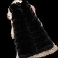 outerwear womens winter Natural real fox fur vest 2016 new fashion long genuine blue fox fur coats(China (Mainland))