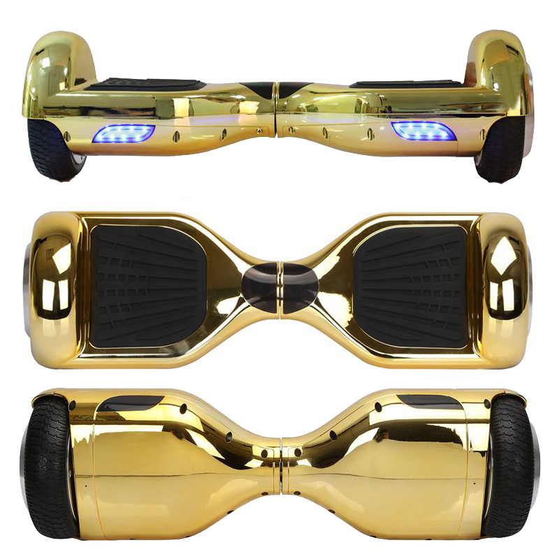 Smart Two Wheel Self Balancing Electric Scooter 6.5 in Gold Chrome Hoverboard Hover Boards Drift Adult Motorized Skateboard UL(China (Mainland))