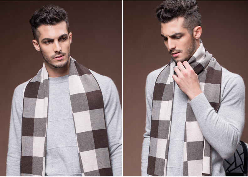 Men  Wool Scarf  Winter Design Striped Scarves Men Shawls Scarves Men Business Scarf High Quality Christmas Gift B-3833