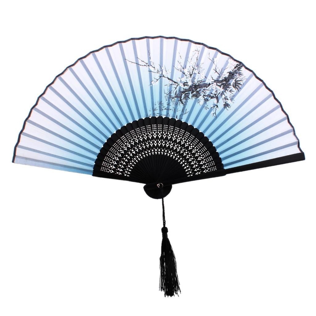 New Hot Sale Plum Blossom Pattern Hand Fan Bamboo Japanese Folding Fan Pocket Fan(China (Mainland))