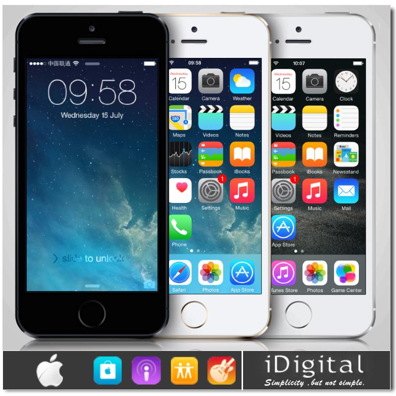 "Original Apple iPhone 5S 16GB/32GB Unlocked Dual Core Mobile Phone IOS8 4.0""IPS HD Retina 8MP WIFI GPS 3G Smartphone Refurbished(China (Mainland))"