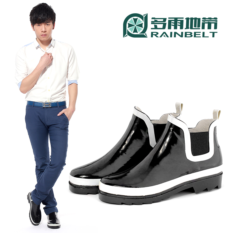 Free Shipping 35 36 37 38-43 44 Men Fashion solid color light Rain Boots Boys low water shoes Waterproof fishing shoes Plus Size<br><br>Aliexpress