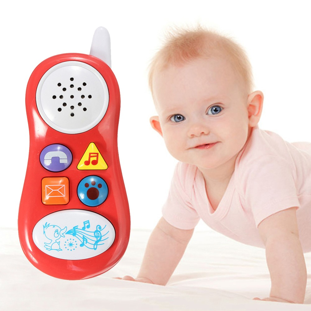 Baby Kids Learning Study Musical Sound Cell Phone Children Educational Toys Musical Instrument for Kids Baby Free Shipping(China (Mainland))