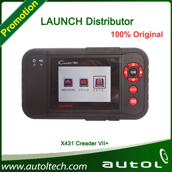OBDII Diagnostic tool LAUNCH X431 Creader VII+ Support all vehicles which match OBDII standard after 1996II Replaced CRP123(China (Mainland))