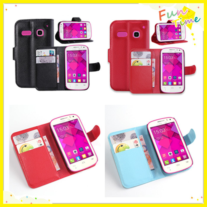 Alcatel One Touch POP C3 OT4033 4033A 4033X 4033D 4033E Litchi Pattern Wallet Magnetic Flip Stand leather case Protective Cover - Shen Zhen Kingma Electronic Co., Ltd store