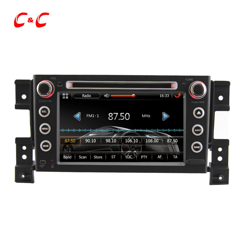 New Capacitive Screen Car DVD Player for Suzuki Grand Vitara with GPS, Radio, BT, SWC, Mirror Link+Free 8G Map Card(China (Mainland))