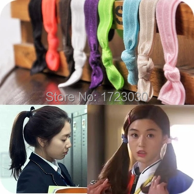 lady Girls Pretty Soft Colorful Hair Tie Hair Rope Head Band hairbands Elastic for lady LH0250(China (Mainland))