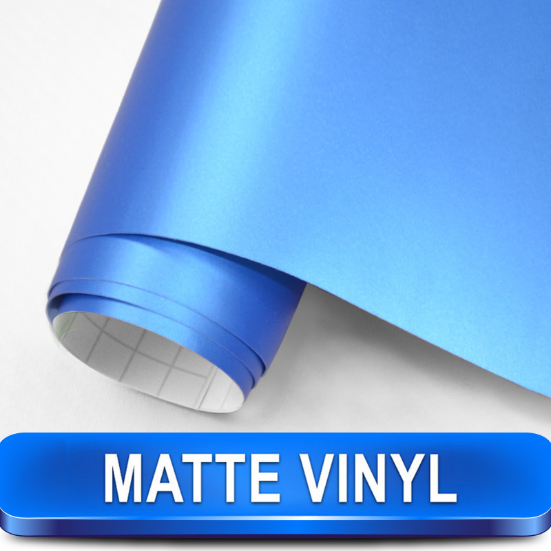 New Arrival Deep Blue Matte Vinyl Car Wrap Size 1.52x30m with Air Channels Designed for Car Styling Free Shipping(China (Mainland))
