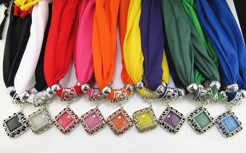 Winter Scarf Women Charms Scarfs 2016 Necklace Pendant Jewelry pendants Scarves