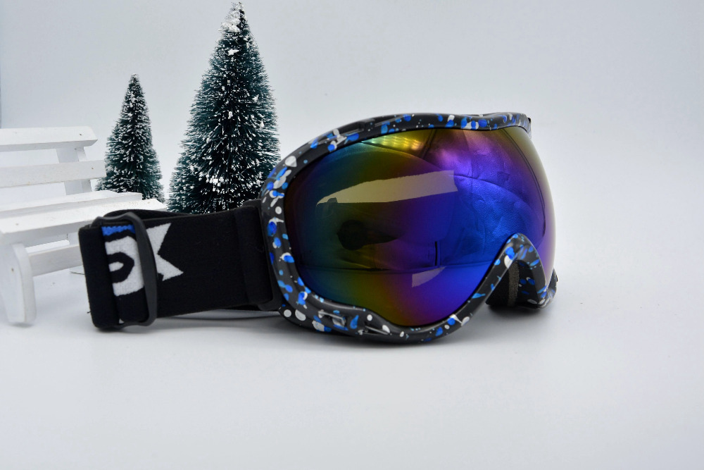 Free Shipping 2015 new Skiing Eyewear Double Layer Large Snow Goggle Spectacal compatible Protection Anti Fog Ski Googles 1001<br><br>Aliexpress