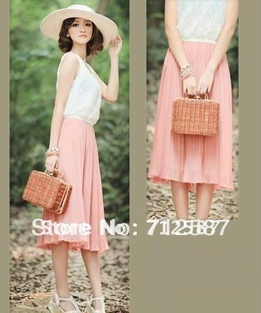 New Version women lady elegant fashion Bohemian lace chiffon dress#5179