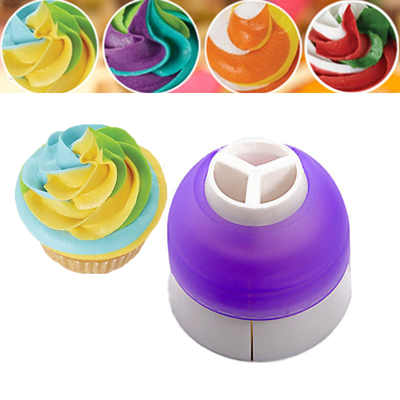 3-color Coupler Cupcake Dessert Decorator Cake Sugar Fondant Cookie Cream Decorating Bag Converter Kitchen Bakeware Tools JJ751(China (Mainland))