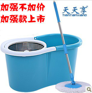 Stainless steel double rotating mop bucket rotating mop rod(China (Mainland))