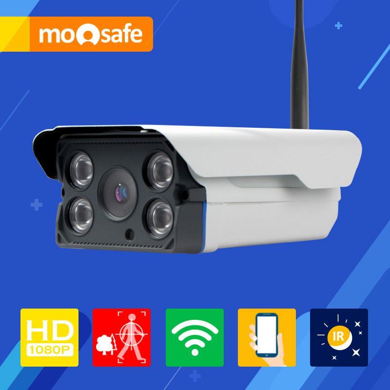 Фотография Mosafe 2mp wifi ip camera 1920*1080P 802.11 b/g/n outdoor 4 pcs IR LED array night vision waterproof Onvif  Surveillance Cameras