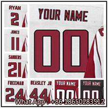 100% Stitched With Customized #2 Matt #11 Julio #21 Deion #24 Devonta #44 Vic Men's Black Red White Jersey(China (Mainland))