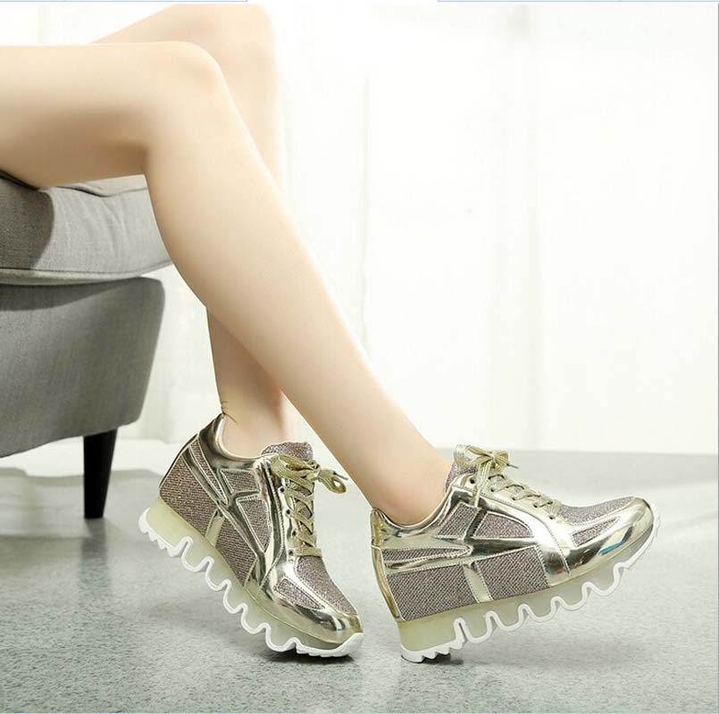 New Arrival Transparent Heel Women Casual Shoes 2015 Hotsales Breathable Women Shoes Mesh Height Increasing Platform Shoes<br><br>Aliexpress